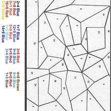Desenhos Para Colorir De Colorindo Mosaico Pelos Numeros Pt