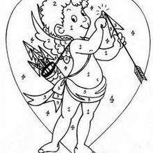 Colorindo o Cupido pelo números