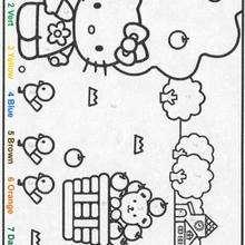 Colorir a Hellokitty pelos números