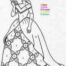 Linda Princesa : colorir pelos números