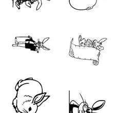 Coelhinhos da Páscoa fofos para imprimir e colorir