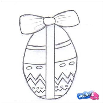 como desenhar como desenhar um ovo de páscoa