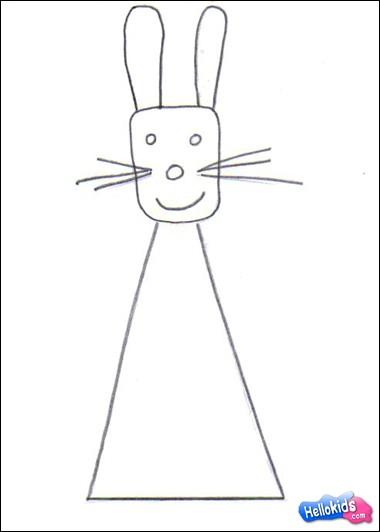 como desenhar como desenhar um coelho da páscoa