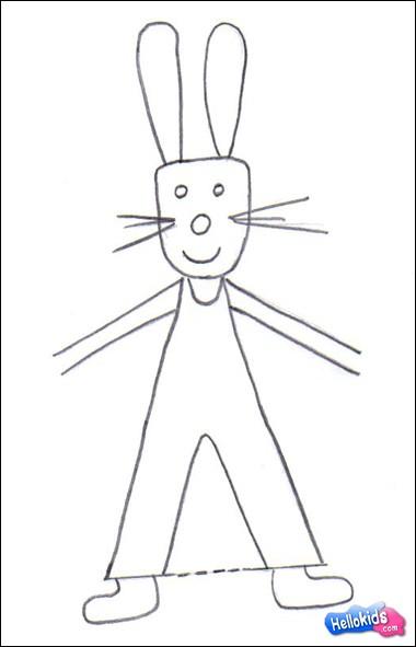 Como desenhar como desenhar um coelho da p scoa - Osterhase zeichnen ...