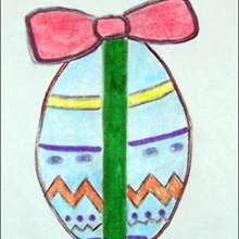 Como desenhar um ovo de Páscoa