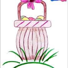 Aprenda a desenhar uma cesta de Páscoa