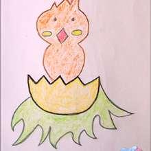 Aprenda a desenhar um pintinho da Páscoa