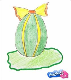 Aprenda a desenhar um ovo de Páscoa