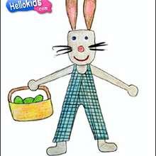 Como desenhar um coelho da Páscoa