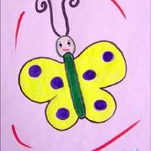 Aprenda a desenhar uma Borboleta amarela