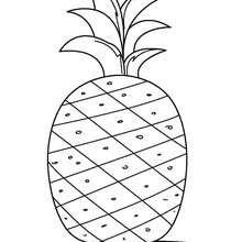 Desenho de um abacaxi para colorir