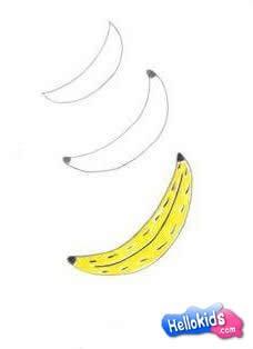 Como desenhar uma Banana