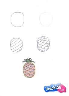 Como desenhar um Abacaxi