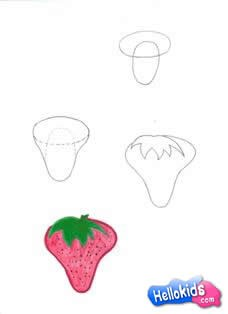 Como desenhar um morango