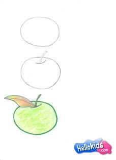 Como desenhar uma maçã