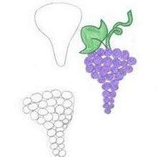 Como desenhar um cacho de uva