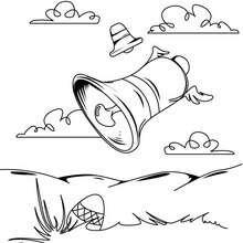 Desenho de sininhos da Páscoa para colorir