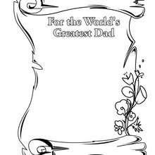 Página para desenhar para o melhor pai do mundo