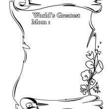 Desenho para colorir da melhor mãe do mundo