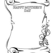 Desenho para colorir : feliz dia das mães