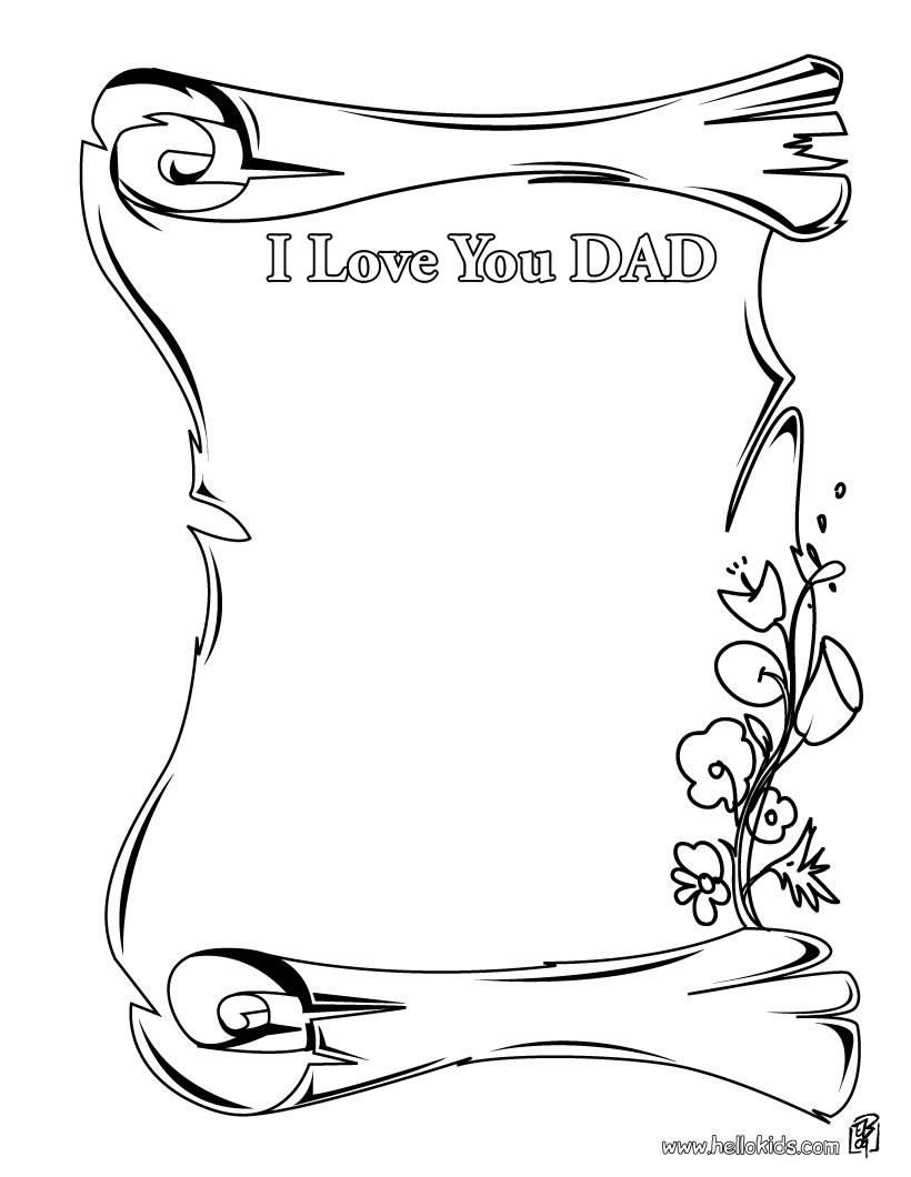 desenhos para colorir de desenho de um papai lendo um livro para