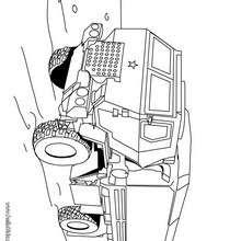 Desenho de um caminhão do exército para colorir