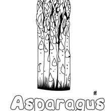 Imagem de um Aspargo para imprimir e colorir