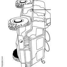 Desenho de um carro de combate para colorir