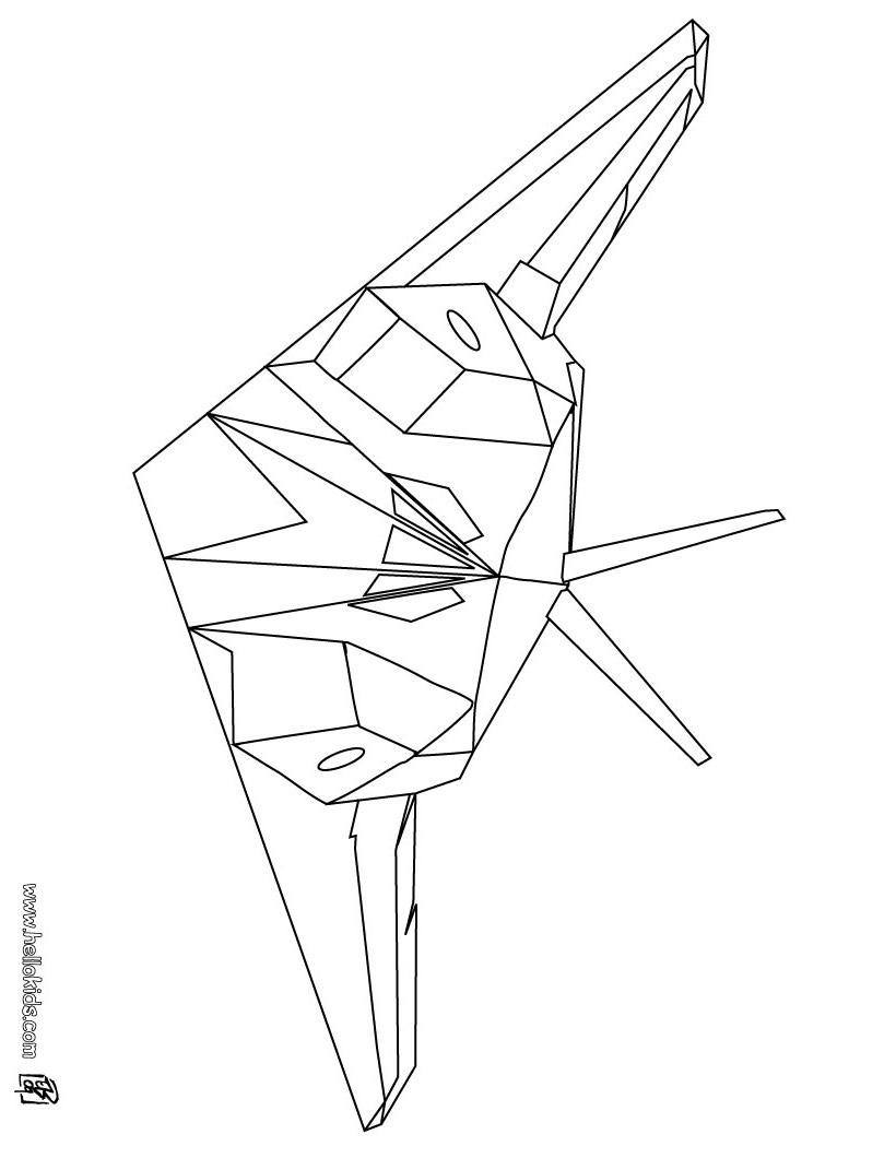 Desenhos para colorir de desenho de um avi o de ca a para