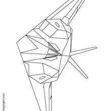 Desenho de um avião de caça  para colorir online