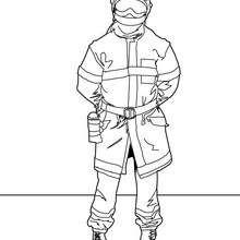 Desenho de um bombeiro para colorir