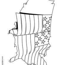 Bandeira dos EUA para colorir
