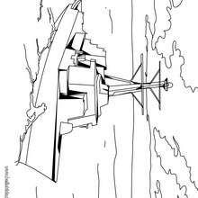 Desenho de um fragata para colorir