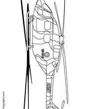Desenho de um helicóptero do exército para colorir