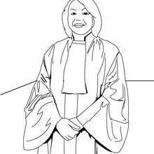 Desenho de um juiz para colorir