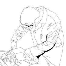 Desenho de um mecânico para colorir