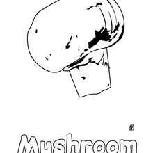 Imagem de um cogumelo para imprimir e colorir