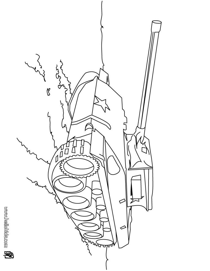 Desenhos Para Colorir De Desenho De Um Tanque De Guerra