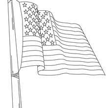 Desenho da bandeira dos Estados Unidos da América para colorir
