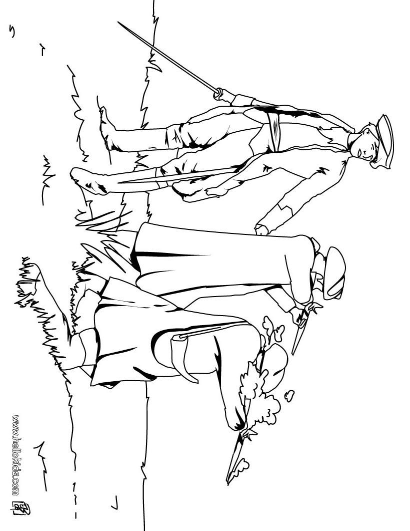 Desenho de três soldados para colorir
