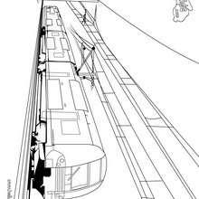 amor, Desenho de um trem para colorir