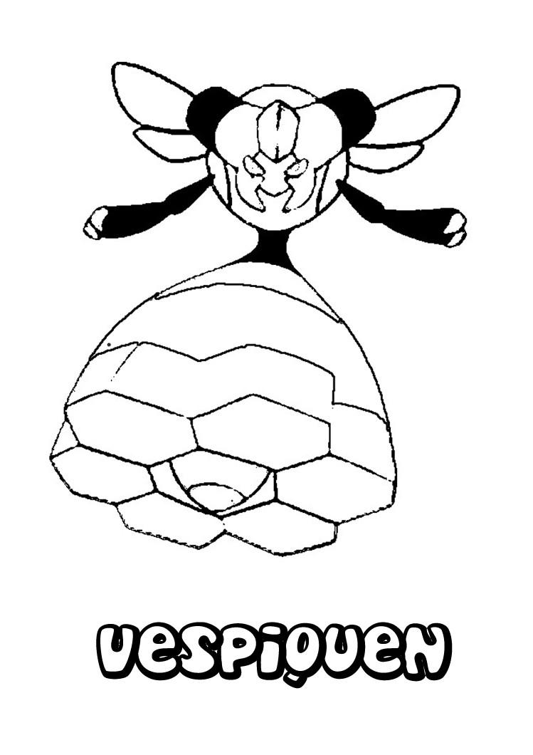 desenhos para colorir de desenho da vespiquen  a abelha pok u00e9mon para colorir