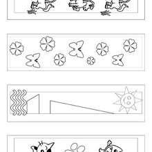 Marcador de página com Animais