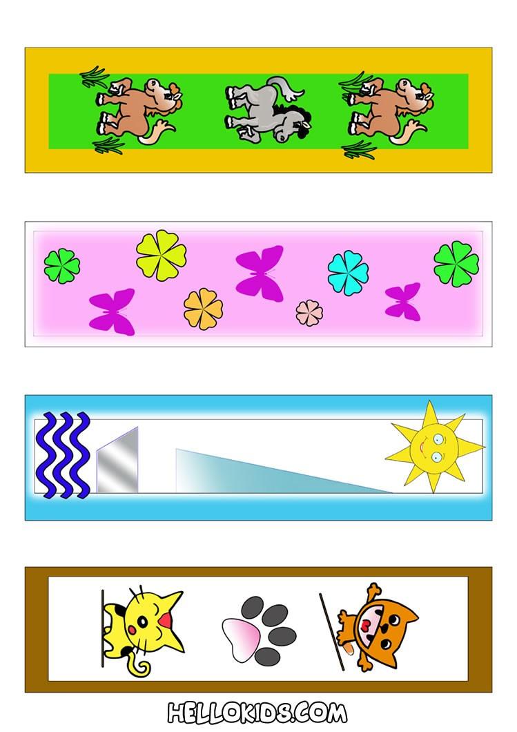Marcadores de página coloridos