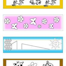 Marcadores de página com animais fofos coloridos pela metade