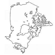 O mapa do Canadá para colorir