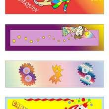 Marcadores de página coloridos do carnaval