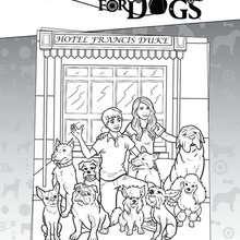 Desenho do Hotel Bom Pra Cachorro para colorir