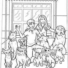 Desenho do Hotel Bom Pra Cachorro para colorir online
