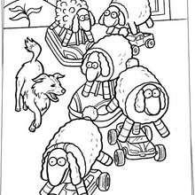 Desenho de ovelhas de brinquedo pros cachorros para colorir